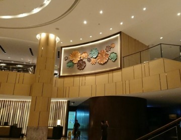 Lobby decoration at  New World Hotel